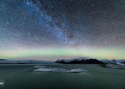 Aurora-via-lattea-jokulsarlon