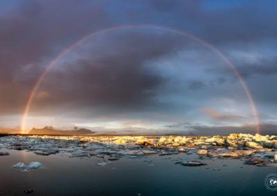 Jokulsarlon-arcobaleno